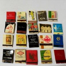 Cajas de Cerillas: LOTE 50 CAJAS DE CERILLAS. PUBLICITARIA AÑOS 60-70. LLENAS TODAS. VER FOTOS.. Lote 176898019