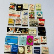 Cajas de Cerillas: LOTE 50 CAJAS DE CERILLAS. PUBLICITARIA AÑOS 60-70. LLENAS TODAS. VER FOTOS.. Lote 176902950