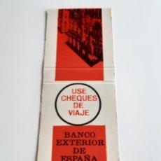 Cajas de Cerillas: CARTERITA CERILLAS BANCO EXTERIOR DE ESPAÑA. Lote 138568438