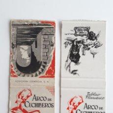 Cajas de Cerillas: CARTERITAS CERILLAS - TABLAO FLAMENCO ARCO DE CUCHILLEROS - MADRID. Lote 144637237