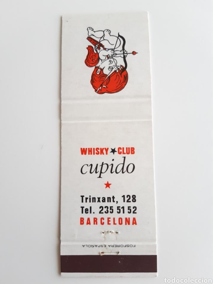 CARTERITA CERILLAS - WHISKY CLUB CUPIDO ( BARCELONA ). PERFECTA!! (Coleccionismo - Objetos para Fumar - Cajas de Cerillas)