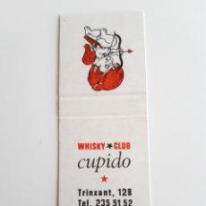 Cajas de Cerillas: CARTERITA CERILLAS - WHISKY CLUB CUPIDO ( BARCELONA ). PERFECTA!!. Lote 144264556