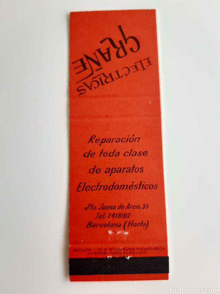 Cajas de Cerillas: CARTERITA CERILLAS ELECTRICAS GRAÑE ( BARCELONA ). PERFECTA!! - Foto 2 - 144268440