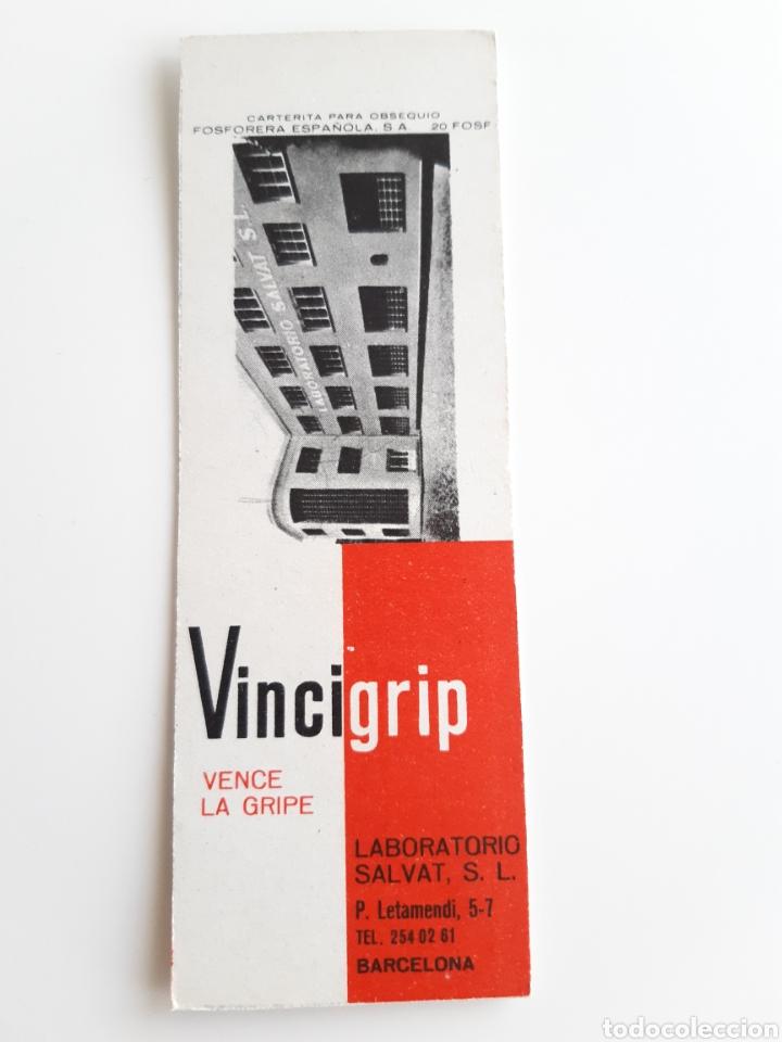 CARTERITA CERILLAS - VINCIGRIP ( BARCELONA ). PERFECTA!! (Coleccionismo - Objetos para Fumar - Cajas de Cerillas)