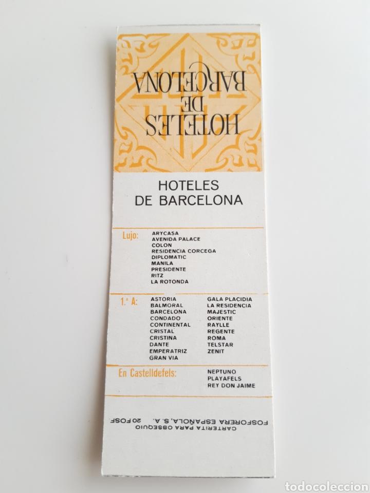 Cajas de Cerillas: CARTERITA CERILLAS - HOTELES DE BARCELONA. PERFECTA!! - Foto 2 - 144265606