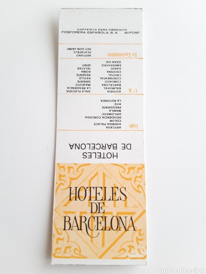 CARTERITA CERILLAS - HOTELES DE BARCELONA. PERFECTA!! (Coleccionismo - Objetos para Fumar - Cajas de Cerillas)