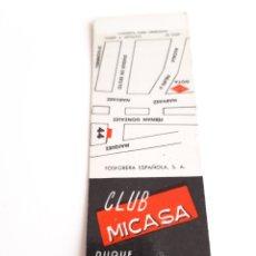 Cajas de Cerillas: CARTERITA CERILLAS - CLUB MICASA. PERFECTA!!. Lote 149506813