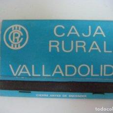 Cajas de Cerillas: CERILLAS CAJA DE CERILLAS DE CAJA RURAL VALLADOLID. Lote 177062748