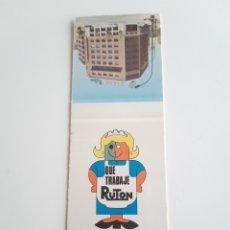 Cajas de Cerillas: CARTERITA CERILLAS - RUTON. PERFECTA!!. Lote 145645250