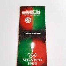 Cajas de Cerillas: CARTERITA CERILLAS - AERONAVES DE MEXICO - OLIMPIADAS 1968 - AEROLÍNEA. Lote 173855828