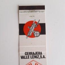 Cajas de Cerillas: CARTERITA CERILLAS - CERRAJERIA VALLE LENIZ S.A. - ARECHAVALETA - GUIPÚZCOA. Lote 169098529