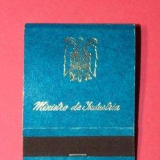 Cajas de Cerillas: CAJA DE CERILLAS. MINISTERIO DE INDUSTRIA. AÑOS 60. PERFECTA Y COMPLETA. ESCUDO DEL AGUILA IMPERIAL.. Lote 177577433