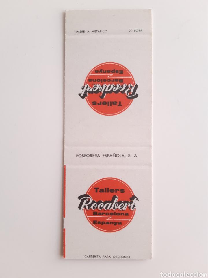 CARTERITA CERILLAS - TALLERES ROCABERT - BARCELONA (Coleccionismo - Objetos para Fumar - Cajas de Cerillas)