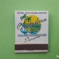 Cajas de Cerillas: CAJA DE CERILLAS HOTEL CONTADORA RESORT, (ISLA CONTADORA, PANAMÁ).. Lote 177615042
