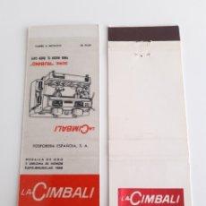 Cajas de Cerillas: CARTERITA CERILLAS - LA CIMBALI - PREMIO COMPAS DE ORO. Lote 139658205
