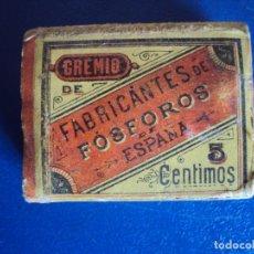 Cajas de Cerillas: (PA-190966)CAJA DE CERILLA Y PASTA INGLESA - CAMPS E HIJO - TARREGA - SIGLO XIX ???. Lote 177657618