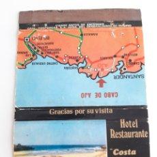 Cajas de Cerillas: CAJA CERILLAS - RESTAURANTE COSTA DE AJO - SANTANDER. Lote 140152601