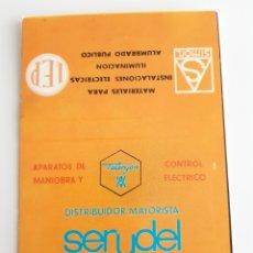 Cajas de Cerillas: CARTERITA CERILLAS - SERYDEL - SERVICIO Y DISTRIBUCIÓN DE MATERIAL ELECTRICO. Lote 143075332