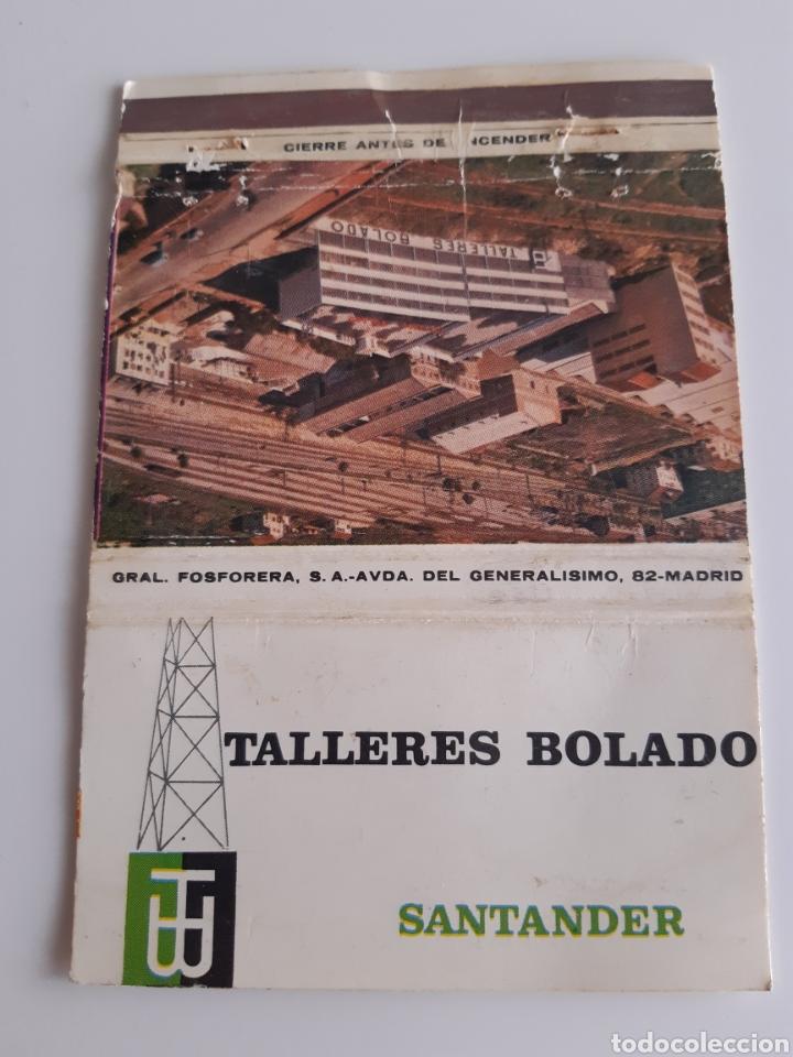 CARTERITA CERILLAS - TALLERES BOLADO - SANTANDER (Coleccionismo - Objetos para Fumar - Cajas de Cerillas)