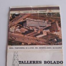 Cajas de Cerillas: CARTERITA CERILLAS - TALLERES BOLADO - SANTANDER. Lote 154805394