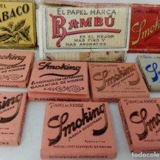 Cajas de Cerillas: COLECCION 10 CAJAS PAPEL DE FUMAR BAMBÚ Y SMOKING. Lote 177723593