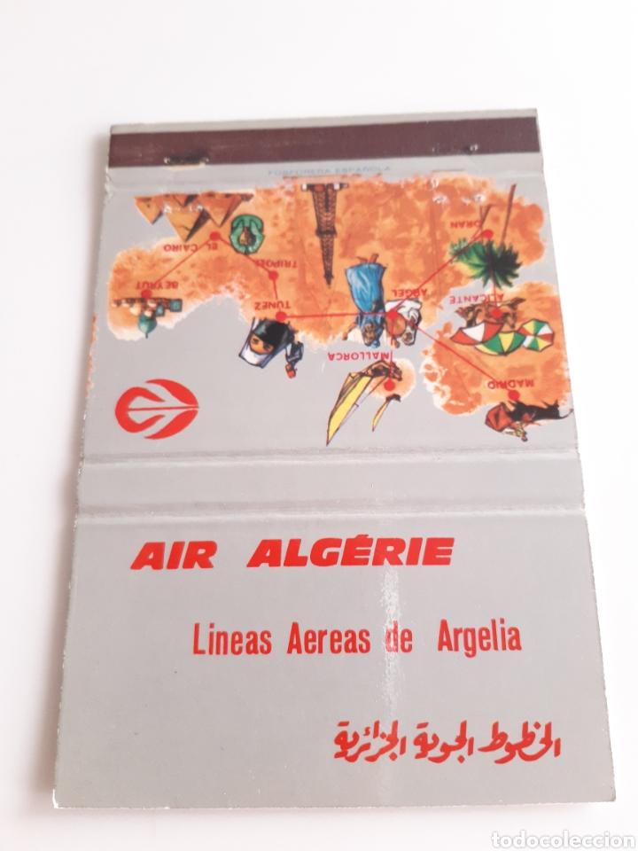 CARTERITA CERILLAS - AIR ALGERIE - LINEAS AEREAS DE ARGELIA (Coleccionismo - Objetos para Fumar - Cajas de Cerillas)