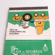 Cajas de Cerillas: CARTERITA CERILLAS - CAJA AHORROS Y MONTE PIEDAD DE ZARAGOZA, ARAGON Y RIOJA. Lote 148940552