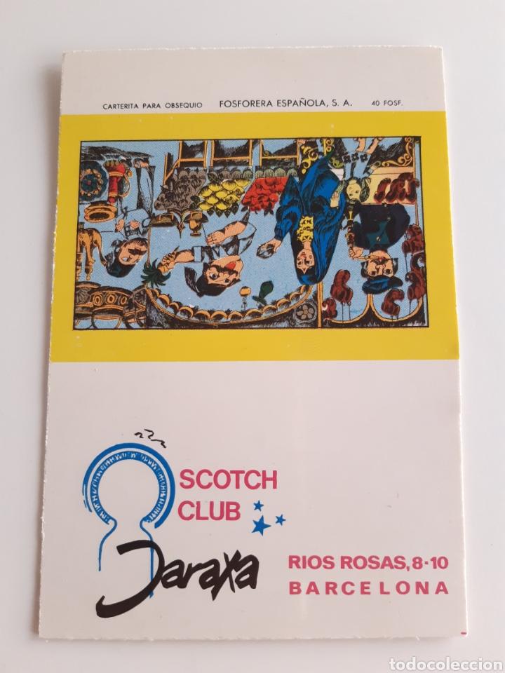 CARTERITA CERILLAS - SCOTH CLUB DARAXA ( BARCELONA ). PERFECTA!! (Coleccionismo - Objetos para Fumar - Cajas de Cerillas)