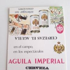 Cajas de Cerillas: CARTERITA CERILLAS - CERVEZAS EL AGUILA - AGUILA IMPERIAL - CERVEZA DE ESPAÑA. Lote 177889162