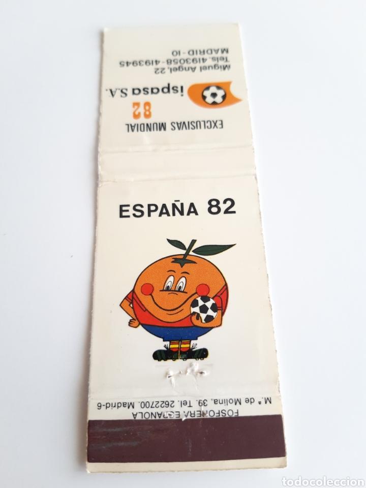 CARTERITA CERILLAS - ESPAÑA MUNDIAL 82 - NARANJITO - ISPASA S.A. (Coleccionismo - Objetos para Fumar - Cajas de Cerillas)