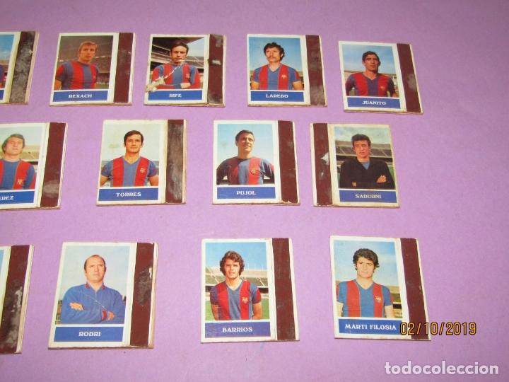 Cajas de Cerillas: Antiguo Lote 16 Cajas de Cerillas Jugadores de Futbol del F.C. BARCELONA - Año 1970s. - Foto 2 - 178066363