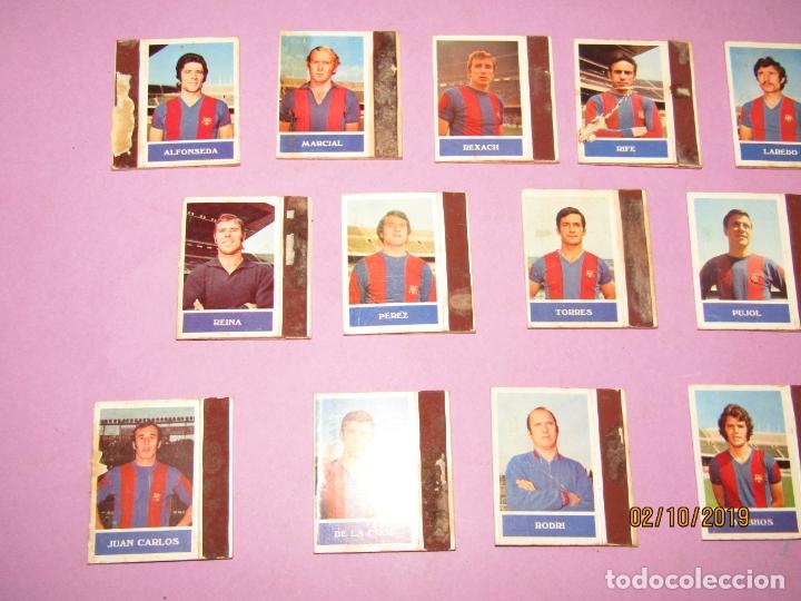 Cajas de Cerillas: Antiguo Lote 16 Cajas de Cerillas Jugadores de Futbol del F.C. BARCELONA - Año 1970s. - Foto 5 - 178066363