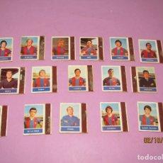 Cajas de Cerillas: ANTIGUO LOTE 16 CAJAS DE CERILLAS JUGADORES DE FUTBOL DEL F.C. BARCELONA - AÑO 1970S.. Lote 178066363
