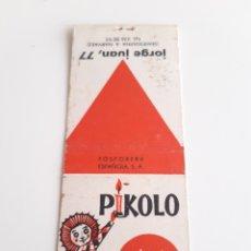 Cajas de Cerillas: CARTERITA CERILLAS - BAR AMERICANO PIKOLO. Lote 145898036