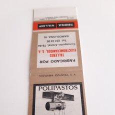 Cajas de Cerillas: CARTERITA CERILLAS - TEMSA - VILLOP - TALLERES ELECTROMECANICOS S.A. ( BARCELONA ). Lote 152650598