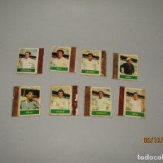 Cajas de Cerillas: ANTIGUO LOTE 8 CAJAS DE CERILLAS JUGADORES DE FUTBOL SEVILLA C.F. - AÑO 1970S.. Lote 178271968