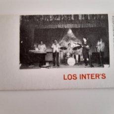 Cajas de Cerillas: CARTERITA CERILLAS - GRUPO MUSICAL LOS INTER'S - INTERS - SALA IMPERIO - ALGINET. PERFECTA!!. Lote 144863178