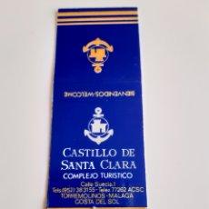 Cajas de Cerillas: CARTERITA CERILLAS - COMPLEJO TURÍSTICO CASTILLO DE SANTA CLARA ( TORREMOLINOS - MALAGA ). Lote 145253309