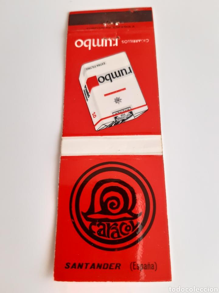 CERILLAS - DISCOTECA CARACOL (SANTANDER) - TABACO RUMBO (Coleccionismo - Objetos para Fumar - Cajas de Cerillas)