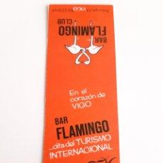 Cajas de Cerillas: CARTERITA CERILLAS - BAR FLAMINGO CLUB ( VIGO ). Lote 144765934