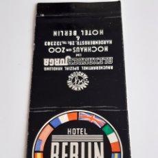 Cajas de Cerillas: CARTERITA CERILLAS - HOTEL BERLIN (ALEMANIA). Lote 152322393
