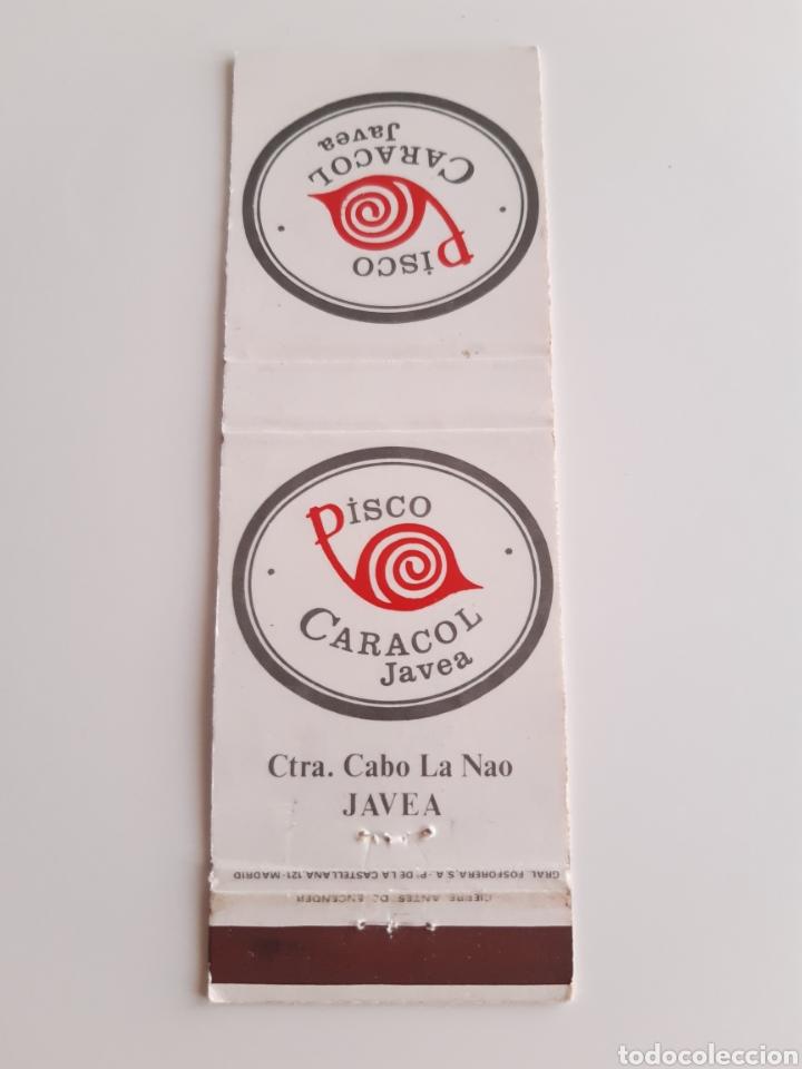 CARTERITA CERILLAS - DISCO CARACOL ( JAVEA ) (Coleccionismo - Objetos para Fumar - Cajas de Cerillas)