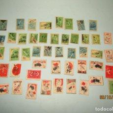 Cajas de Cerillas: ANTIGUO LOTE DE 49 CAJAS DE CERILLAS DE ESPAÑA - TOROS Y DEPORTES. Lote 179328262