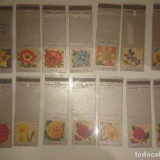 Cajas de Cerillas: LOTE DE 14 CAJAS DE CERILLAS ANTIGUAS EXTRANJERAS DE FLORES , VER IMAGENES. Lote 179375997