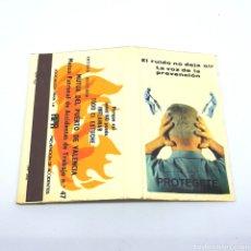 Cajas de Cerillas: (CAZ1) CAJA CERILLAS PUBLICITARIA - PROTEGETE. Lote 179547346