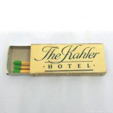 Cajas de Cerillas: (CAZ1) CAJA CERILLAS PUBLICITARIA - THE KAHLER HOTEL - ROCHESTER MINNESOTA. Lote 179548465