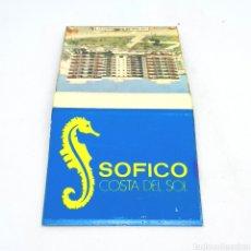 Cajas de Cerillas: (CAZ1) CAJA CERILLAS PUBLICITARIA - SOFICO COSTA DEL SOL. Lote 179548582