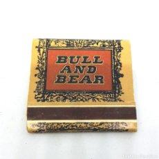 Cajas de Cerillas: (CAZ1) CAJA CERILLAS PUBLICITARIA - BULL AND BEAR. Lote 179549216