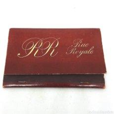 Cajas de Cerillas: (CAZ1) CAJA CERILLAS PUBLICITARIA - RUE ROYALE. Lote 179549370