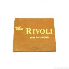 Cajas de Cerillas: (CAZ1) CAJA CERILLAS PUBLICITARIA - THE RIVOLI. RICHMOND. Lote 179549558